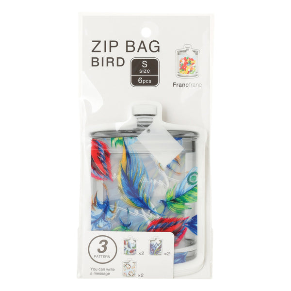 ZIP Bag S 6p Bird Blue