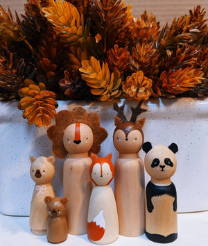 Hand painted wooden animals