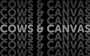 Cows and canvas logo