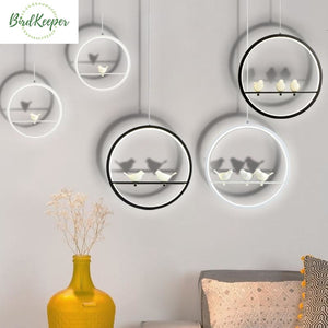 LAMPE OISEAUX - SUSPENSION CERCLE