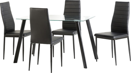 Abbey Dining Set in Black