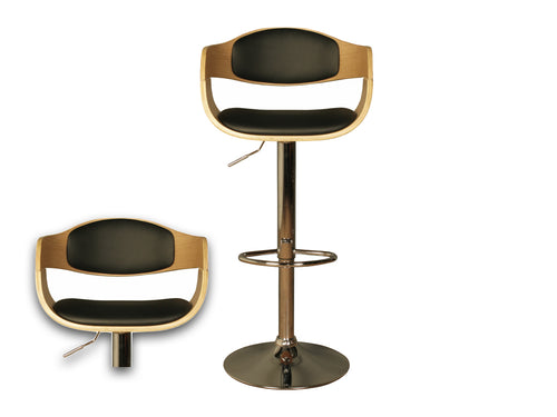 Anna Bar Stool Black & Oak