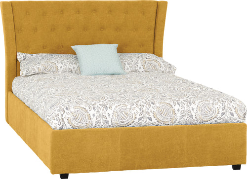 Camden Double Bedframe in Mustard