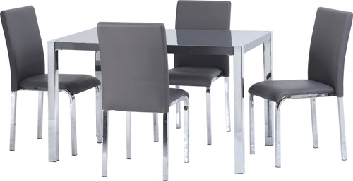 Charisma 4ft Dining Set in Grey
