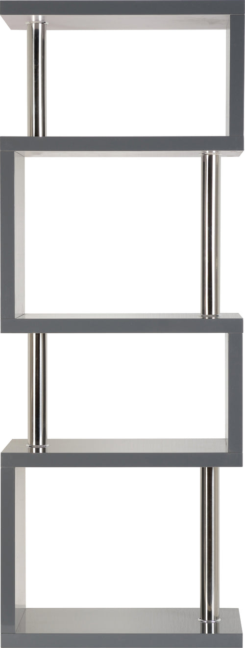 Charisma 5 Shelf Unit in Grey