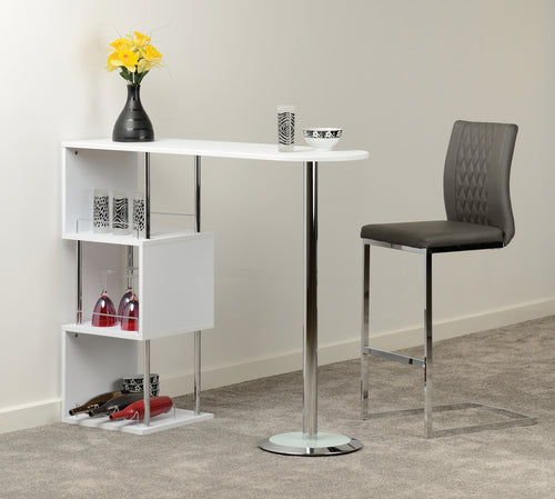 Charisma Home Bar Table in White