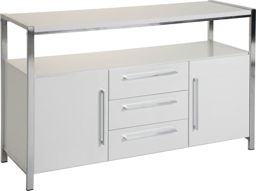 Charisma 2 Door 3 Drawer Sideboard in White