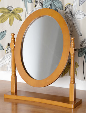 Contessa Dressing Table Mirror in Antique Pine