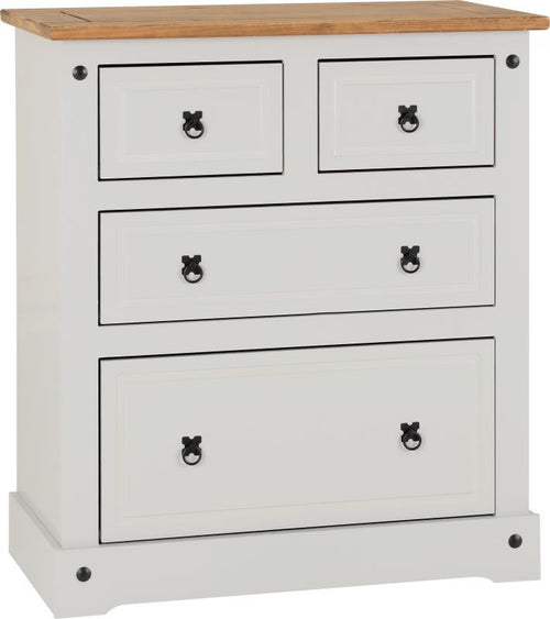 Corona 2 Plus 2 Drawer Chest in Grey