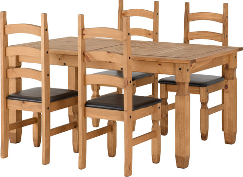 Corona Extending Dining Set - Four Chairs