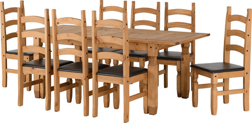Corona Extending Dining Set - Eight Chairs