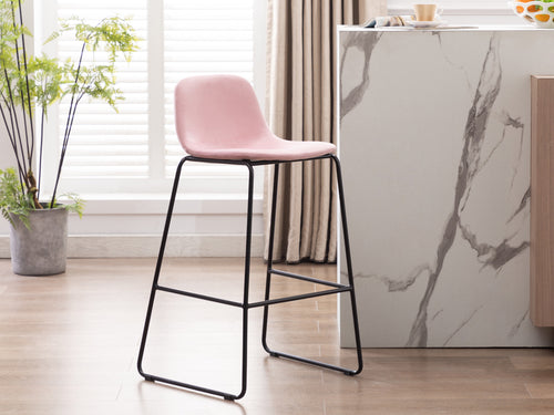 Emporia Bar Stool in Pink