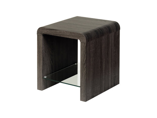 Encore End Table in Charcoal
