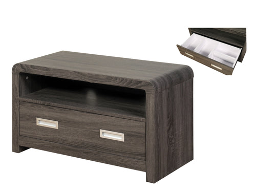 Encore TV Unit in Charcoal