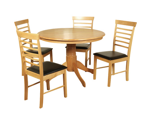 Hanover Oak Large Round Dining Set