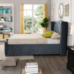 Clare Storage Bedframe in Charcoal