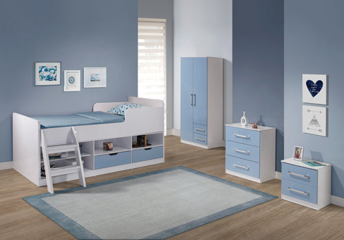 Jasper Bedroom Set in Blue
