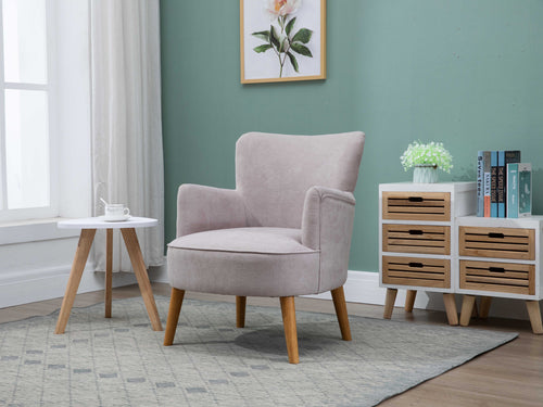 Keira Armchair in Pearl Grey