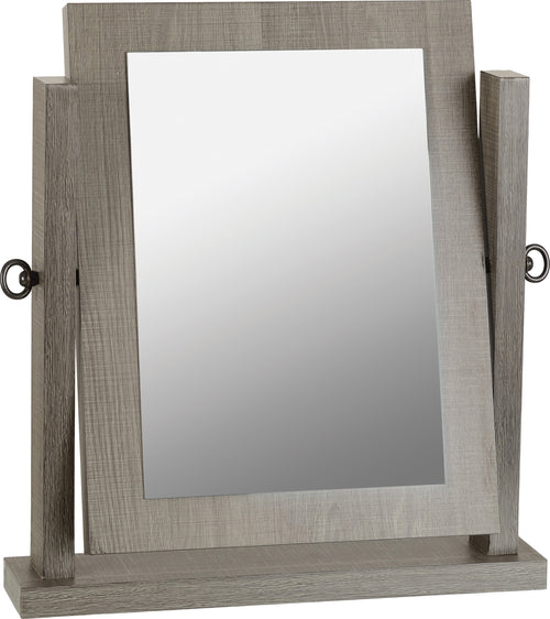 Lisbon Dressing Table Mirror in Black Wood Grain