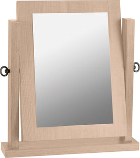 Lisbon Dressing Table Mirror in Light Oak