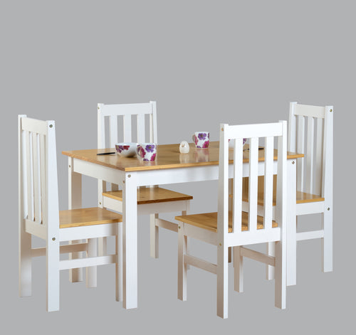 Ludlow 1 Plus 4 Dining Set in White Oak