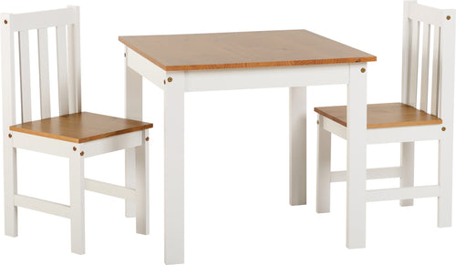 Ludlow 1 Plus 2 Dining Set in White Oak