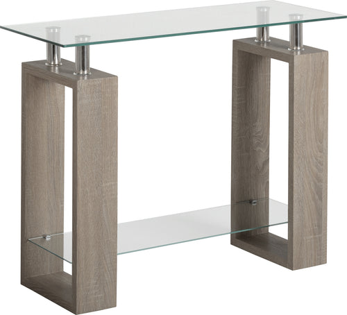 Milan Console Table in Light Charcoal