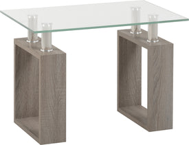 Milan Lamp Table in Light Charcoal