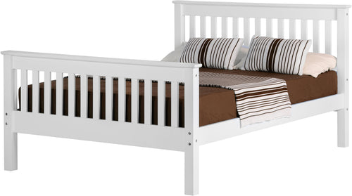 Monaco Small Double 4ft Bedframe High Foot End