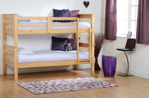 Neptune Single 3ft Bunk Bed in Oak