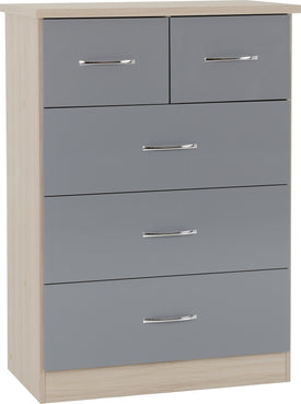 Nevada 3 Plus 2 Drawer Chest in Grey