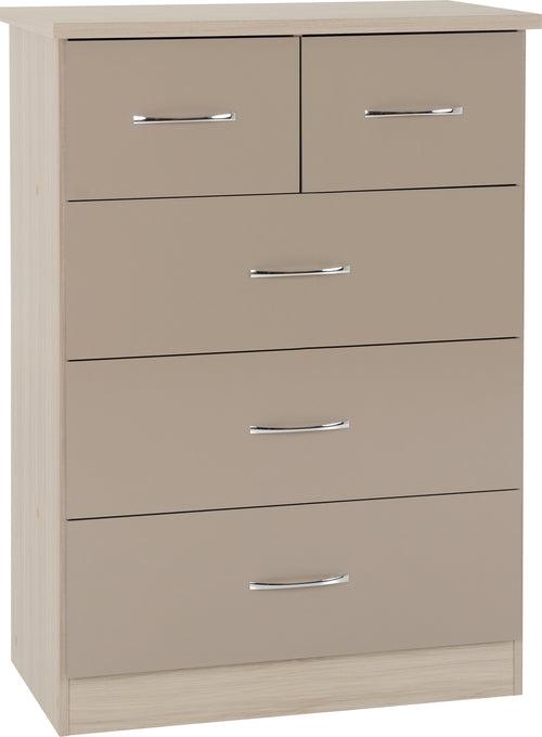 Nevada 3 Plus 2 Drawer Chest in Oyster