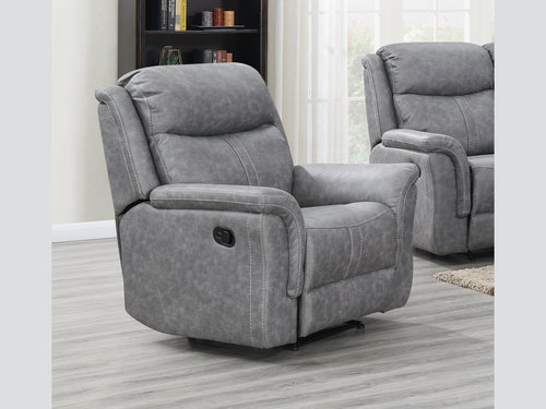Portland Reclining Chair in Silver Grey
