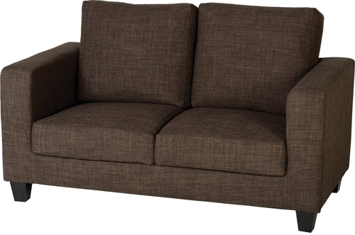 Tempo 2 Seater Sofa-in-a-Box Dark Brown Fabric