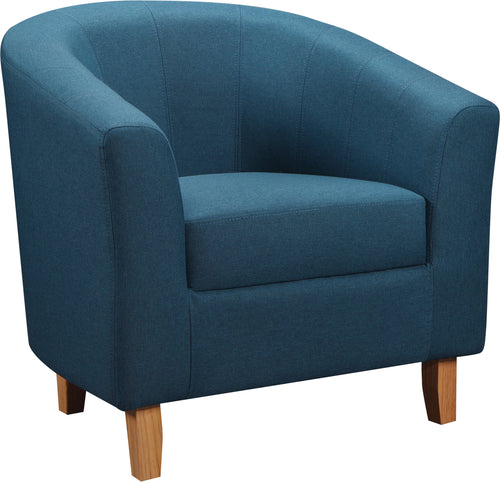 Tempo Tub Chair in Petrol Blue