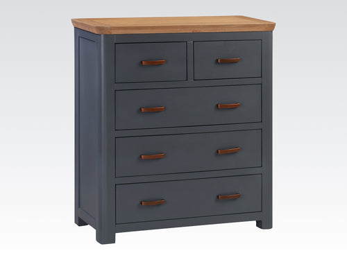 Treviso Midnight Blue 2 Over 3 Chest of Drawers