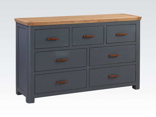 Treviso Midnight Blue 3 Over 4 Chest of Drawers