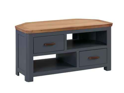 Treviso Midnight Blue Corner TV Unit