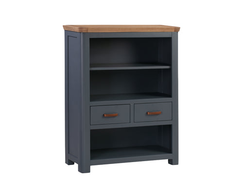 Treviso Midnight Blue Low Bookcase