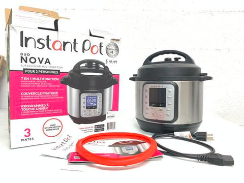 Instant Pot Duo Nova 7-in-1 Electric Pressure Cooker, 3 Quart Ceramic Pot - Good