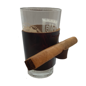 Michael Noelle Edition Pint Glass with Cigar Holder