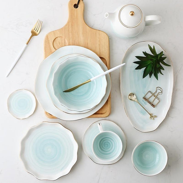 Tableware Everleigh Glazed Tableware Set Homeplistic