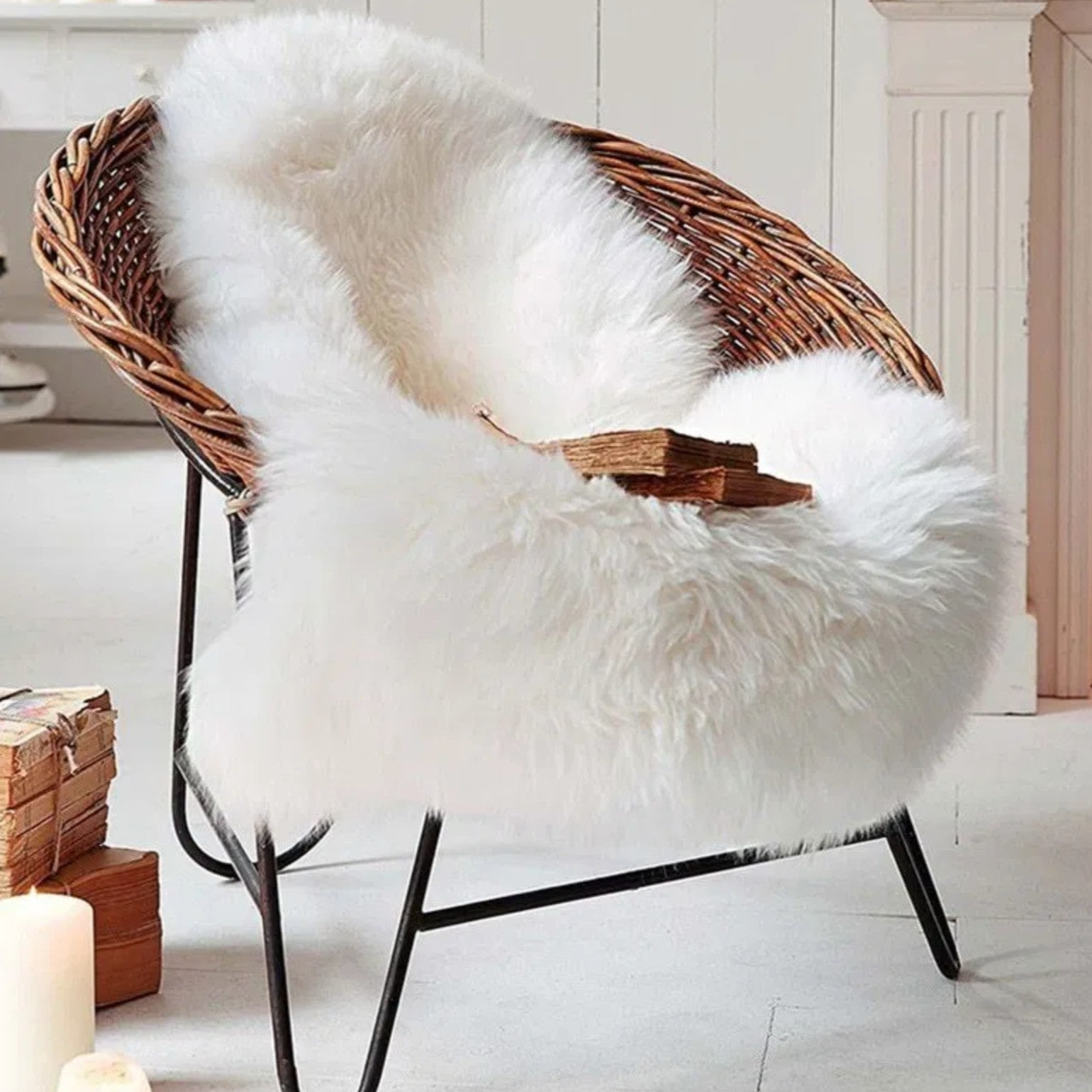 Shop Faux Sheepskin Rug from (Vendor not listed) on Openhaus