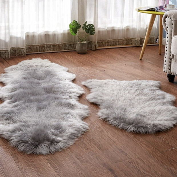 Rugs Faux Sheepskin Rug Homeplistic