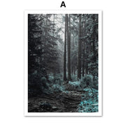 Wall Art Forrest Blues Canvas Prints Homeplistic