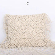 Pillows Hand-Woven Macrame Pillow Covers Homeplistic