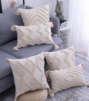 Pillows Lila Tasseled Pillows Homeplistic