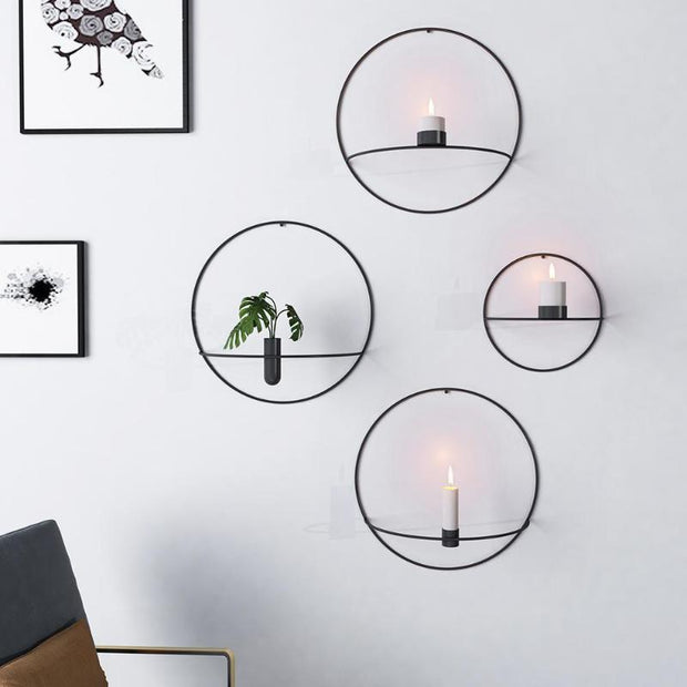 Wall Hanging Minimalist Wall Candle Holder and Vase Homeplistic