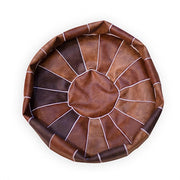 Pouf Morocco Leather Pouf Homeplistic