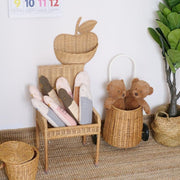 Baby Rattan Apple Basket Homeplistic